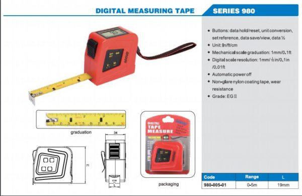 متر دیجیتال 5 متری آکاد کد AC-980-005-11