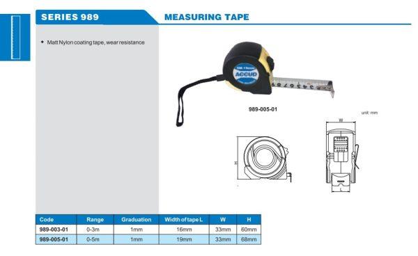 متر فلزی 5 متری آکاد کد AC-989-005-01